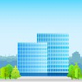 Business office building, real estate silhouette Royalty Free Stock Photo