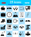 Business, Office & Finance icons set Royalty Free Stock Photo