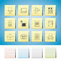 Business, office and firm icons - vector icon set Royalty Free Stock Photo