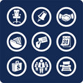 Business and Office icons (set 5, part 2) Stock Images
