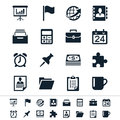 Business and office icons simple clear sharp easy to resize Royalty Free Stock Photo