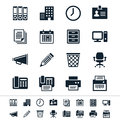 Business and office icons simple clear sharp easy to resize Stock Photo