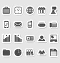 Business and office icons stikers this is file of eps format Stock Photos