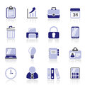 Business and office icons vector icon set Stock Photography