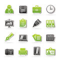 Business and office icons vector icon set Stock Photo