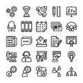 Business and Office Line Vector Icons 11