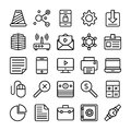 Business and Office Line Vector Icons 3