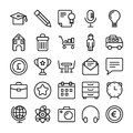 Business and Office Line Vector Icons 4