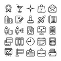Business and Office Line Vector Icons 18