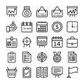 Business and Office Line Vector Icons 13