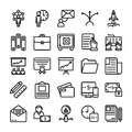 Business and Office Line Vector Icons 12