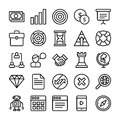 Business and Office Line Vector Icons 2