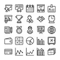 Business and Office Line Vector Icons 16
