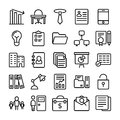 Business and Office Line Vector Icons 7