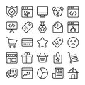 Business and Office Line Vector Icons 1