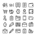 Business and Office Line Vector Icons 8