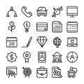 Business and Office Line Vector Icons 10