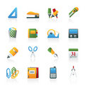 Business and office objects icons Stock Images