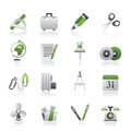 Business and office objects icons Royalty Free Stock Images