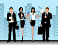 Business office people vector Illustration Royalty Free Stock Photos