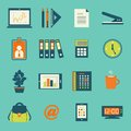Business office stationery icons set Royalty Free Stock Photos