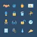 Business office stationery icons set Royalty Free Stock Images