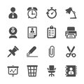 Business and office work icon set, vector eps10 Royalty Free Stock Photo