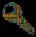 Business opportunity info-text graphics Royalty Free Stock Image