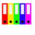 Business organization set of colored folders on a white background Royalty Free Stock Photo
