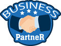 Business partner vector illustration of the handshake Royalty Free Stock Photos