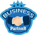 Business partner vector illustration of the handshake Stock Photo