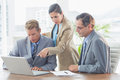 Business partners working together in an office Royalty Free Stock Images