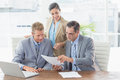 Business partners working together in an office Stock Photos
