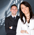 Business partners - young entrepreneurs Stock Photos