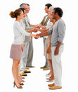 Business partnerships-shaking hands Royalty Free Stock Images