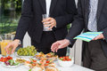 Business party on the open air Royalty Free Stock Photo