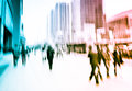 Business people activity at big city blur motion Stock Photography