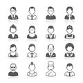 Business people avatar icons. Royalty Free Stock Photo