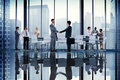 Business People Board Room Meeting Handshake Communication Concept Royalty Free Stock Photo