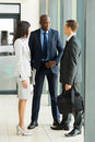 Business people chatting group of after the meeting Royalty Free Stock Photo