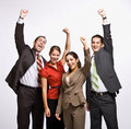 Business people cheering Royalty Free Stock Photography