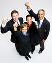 Business people cheering Stock Photography