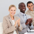 Business people clapping at a presentation Stock Image