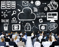 Business People Cloud Computing Seminar Conference Concept Royalty Free Stock Photo