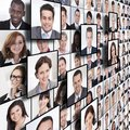 Business people collage Royalty Free Stock Photo