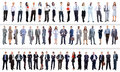 Business people collection of full length portraits of Stock Photos