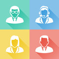 Business people colorful flat icons set of about Royalty Free Stock Photos