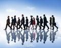 Business People Commuter Walki...