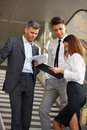 Business people discussing documents and ideas business team Royalty Free Stock Photography