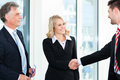 Business people doing handshake two businesspeople shaking hands Royalty Free Stock Photos